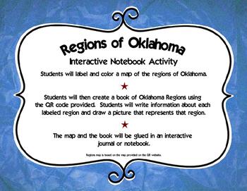 Regions of Oklahoma Interactive Notebook Activity