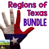 Regions of Texas Bundle with Lesson Plans