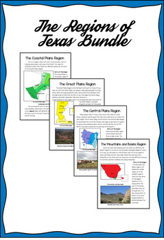 Regions of Texas Bundle- Integrating Reading and SS