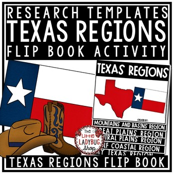 Regions of Texas Flipbook & Texas Regions Activity