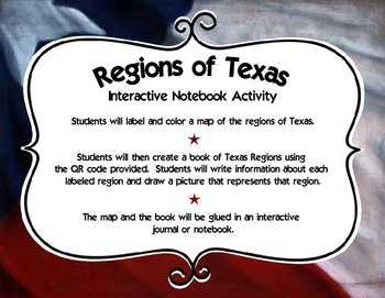 Regions of Texas Interactive Notebook Activity