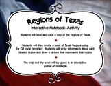 Regions of Texas Interactive Notebook Activity