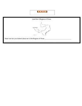 Regions of Texas Lesson Plan