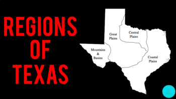 Regions of Texas PowerPoint || Texas History