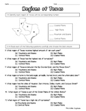 Regions of Texas Quiz