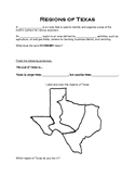 Regions of Texas- Student Notes with Hank the Cowdog