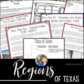 Regions of Texas Writing Activity