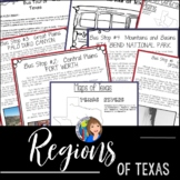 Regions of Texas Geography Activity for Texas History 7th Grade