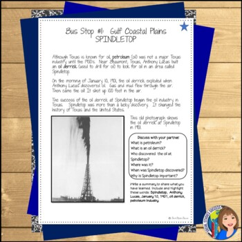 Regions of Texas Writing Activity - Modified for ELL or 4th Grade