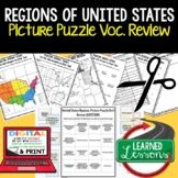 Regions of United States Picture Puzzle, Test Prep, Unit R