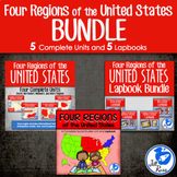Regions of United States Units and Lapbooks Bundle (Four Regions Version)
