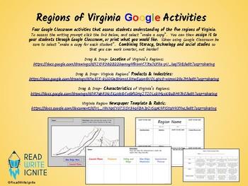 Regions of Virginia Google Activities