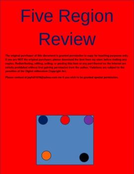 Regions of Virginia Review Worksheet