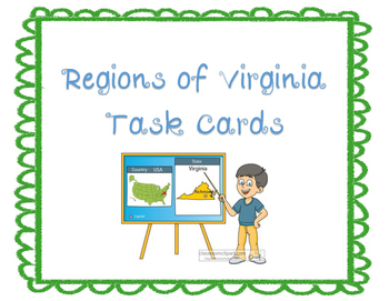 Regions of Virginia Task Cards
