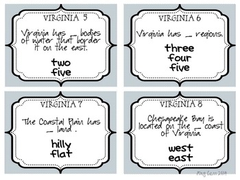 Regions of Virginia VS 2b Task Cards and Review
