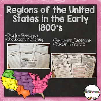 Regions of the U.S. in the Early 1800's