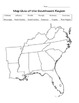 Regions of the U.S. Maps - Labeled Maps and Blank Map Quizzes