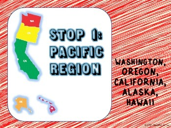Regions of the U.S. - Pacific States