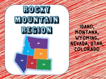Regions of the U.S. - Rocky Mountain States