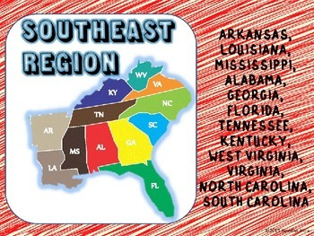 Regions of the U.S. - Southeast States