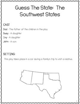 Regions of the US: Southwest and West Leveled Reader's Theater