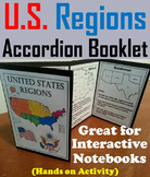 Five Regions of the United States: US Geography Interactive Notebook Foldable