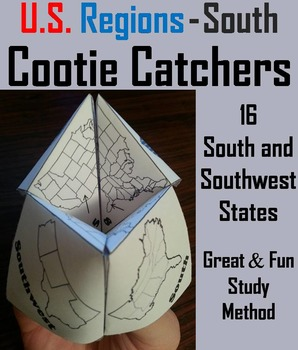 US Geography Unit: South and Southwest Region of the United States Activity