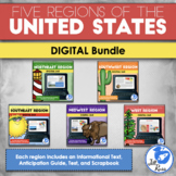 Regions of the United States: 5 Units Digital Bundle Distance Learning