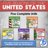 Regions of the United States: 5 Units Printable Bundle