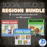 Regions of the United States: 6 Units Lapbooks Printable Bundle