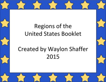 Regions of the United States Booklet