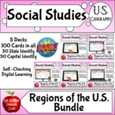 Regions of the United States Boom Card ™ Bundle - Distance