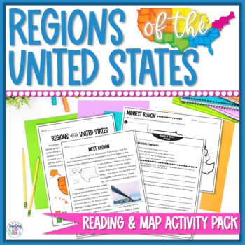 Regions of the United States Maps and Worksheets
