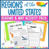 Regions of the United States Close Reading Passages, Vocab