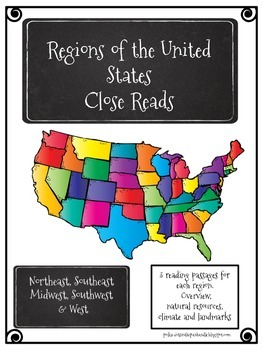 Regions of the United States - Close Reads