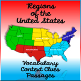 Regions of the United States Context Clues Cloze Passages
