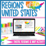 5 Regions of the United States Maps & Worksheets Digital