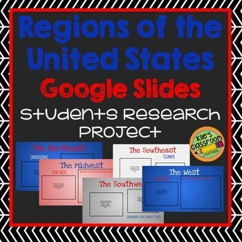 Regions of the United States Digital Research Project - Google Slides