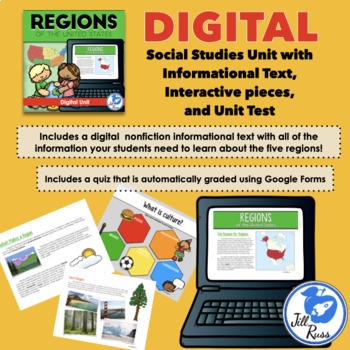 Regions Introduction Lapbook Unit with Informational text {Five Regions}