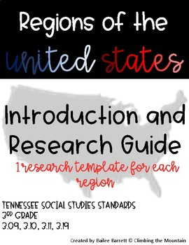 Regions of the United States: Introduction and Research Template