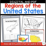 Regions of the United States Map Activities BUNDLE