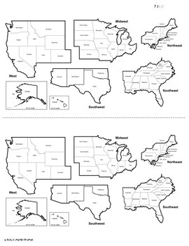regions of the united states midwest region activity bundle tpt Midwest States Capitals and Abbreviations regions of the united states midwest region activity bundle