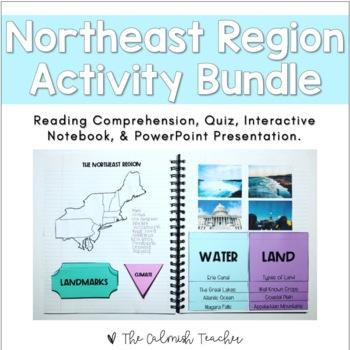 Regions of the United States: Northeast Region Activity Bundle