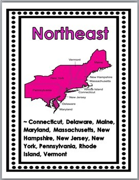Regions of the United States Posters, Interactive Flap Books, & Printables