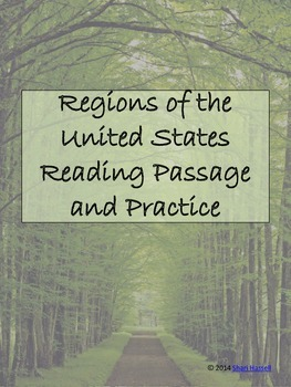 Regions of the United States Reading Passage and Practice