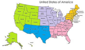 Regions of the United States Sort Game