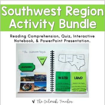 Regions of the United States: Southwest Region Activity Bundle