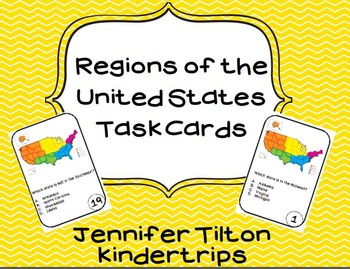 Regions of the United States Task Cards