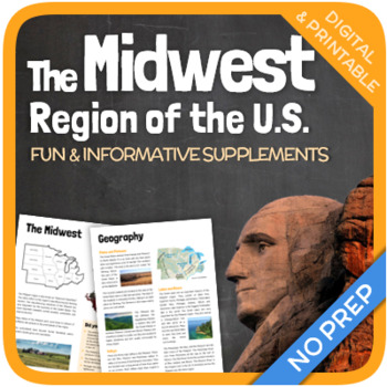 Regions Of The United States The Midwest Region By Thematic Worksheets
