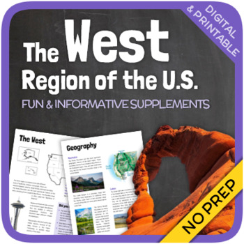 Regions Of The United States The West Region By Thematic Worksheets